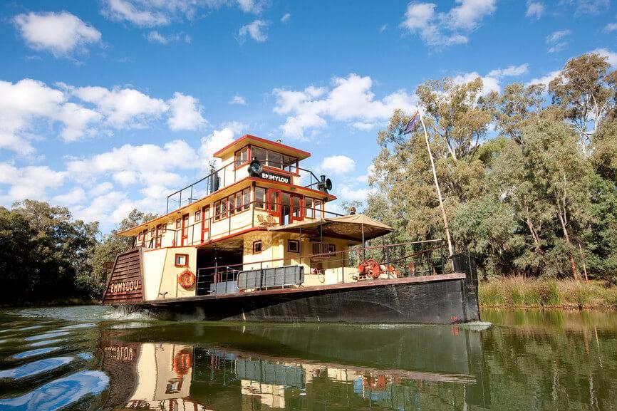 墨尔本蒸汽游船伊丘卡1日游☞乘坐古老的明轮蒸汽游船【澳洲仅此一家】