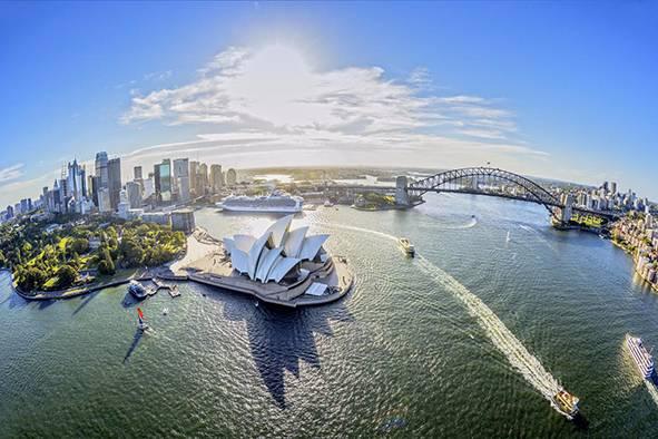 绚丽悉尼3日游☞含史蒂芬港观野生海豚游船+悉尼港自助午餐游船+悉尼市区3.5-4星酒店住宿