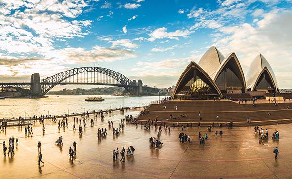 绚丽悉尼4日游 ☞ 含史蒂芬港观野生海豚游船+蓝山三段缆车+悉尼港自助午餐游船+悉尼市区3.5-4星酒店住宿